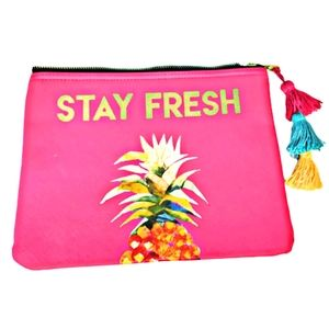 """Charming Charlie Cosmetic Pouch """" Stay Fre…"""